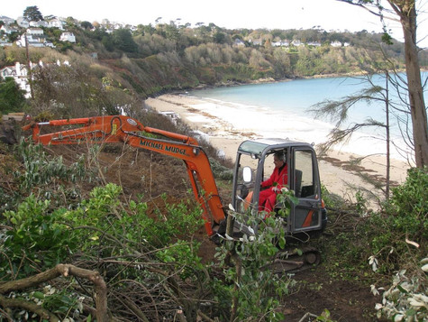 Preparing the ground at the Carbis Bay site