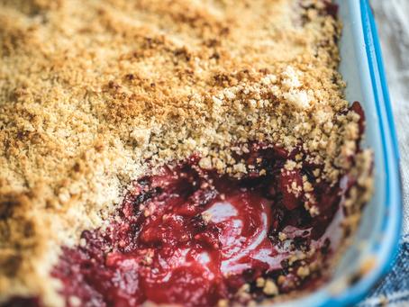 Dessert: Blackberry, Apple and Dulse Crumble