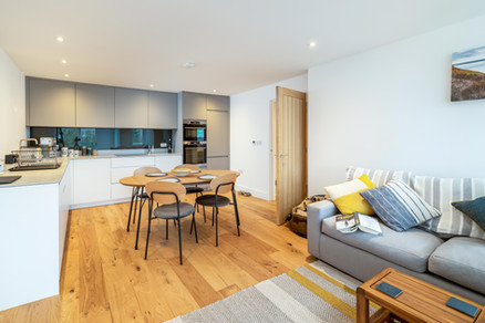 The open plan living area is a great space to catch up on the day