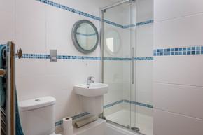 A sleek, modern bathroom