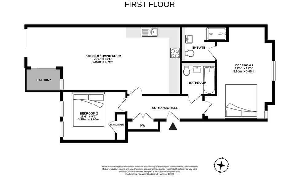 No 9 Canalside, Bude, floorplan