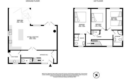 Floorplan for Lowenna, Poughill, near Bude