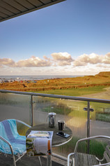 Enjoy a coffee with a view of the sea from the balcony