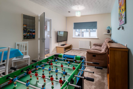 Children will love the games room complete with table football