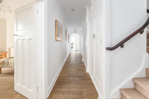 The long hallway invites exploration