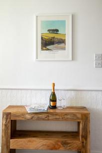 You'll find bespoke furniture and original artwork throughout