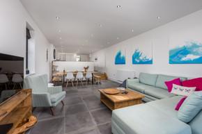 Open-plan dining-living room