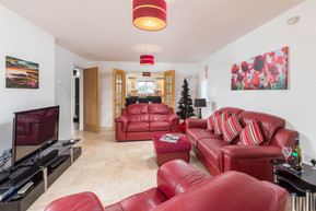 There is plenty of space to relax in the large sitting room