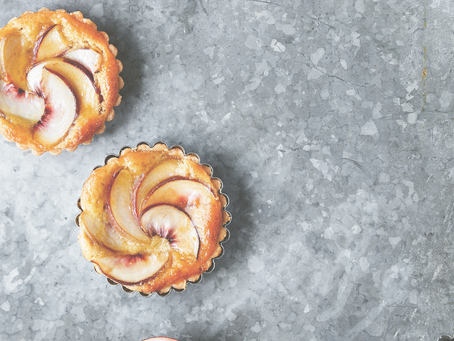 Dessert: Peach and Almond Tart