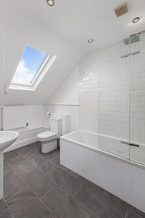 Luxury bathroom flooded with light