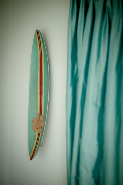 Surf art on the walls reflects Trevose View's beach side location