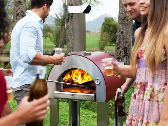 Alfa Pizza Oven in a garden