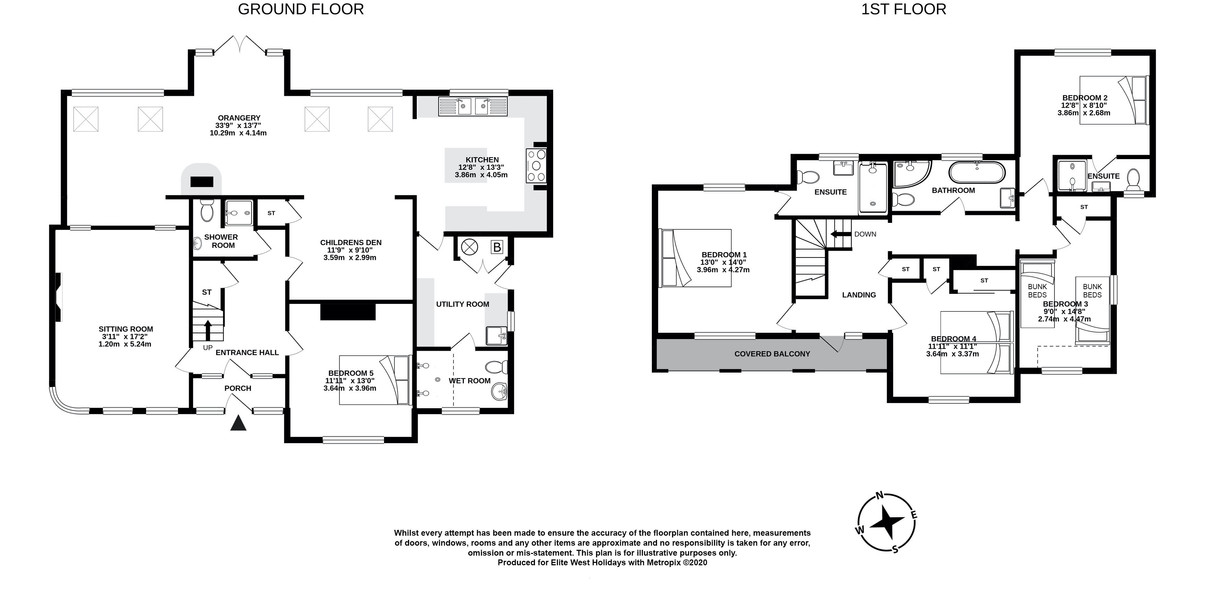 Floor plan for Down House