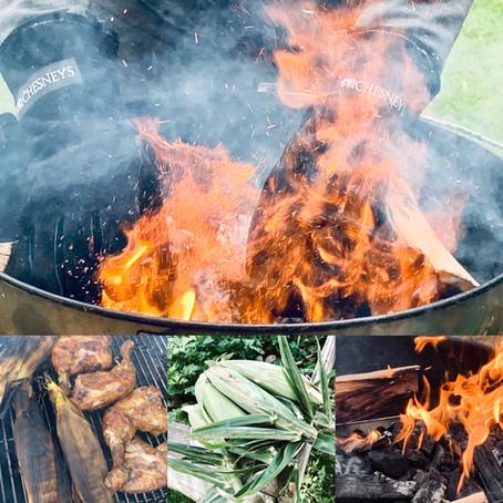 An impromptu outdoor autumn feast
