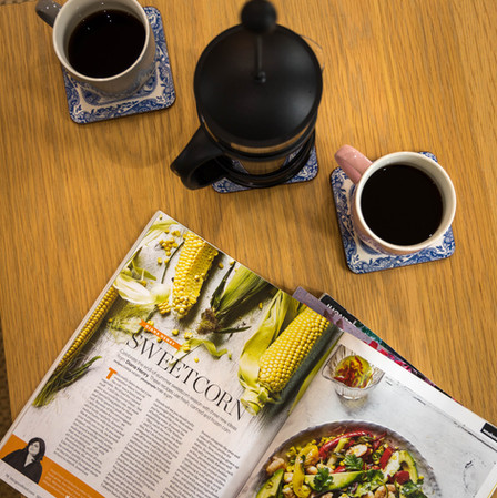 Kick back with a coffee and your favourite magazine