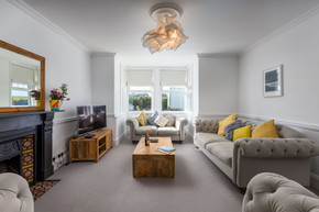 A stylish and spacious living room