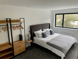 The master bedroom at Lowenna