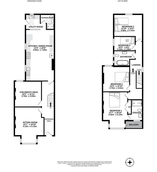 Arden House, Bude, floorplan