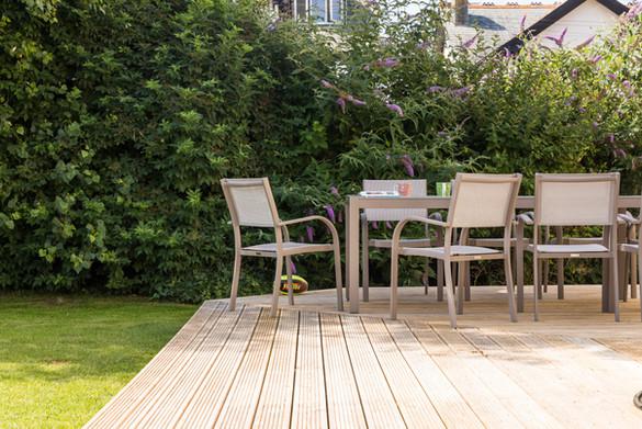 Enjoy the Cornish sunshine o the large deck