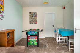 Children will love the colourful games room