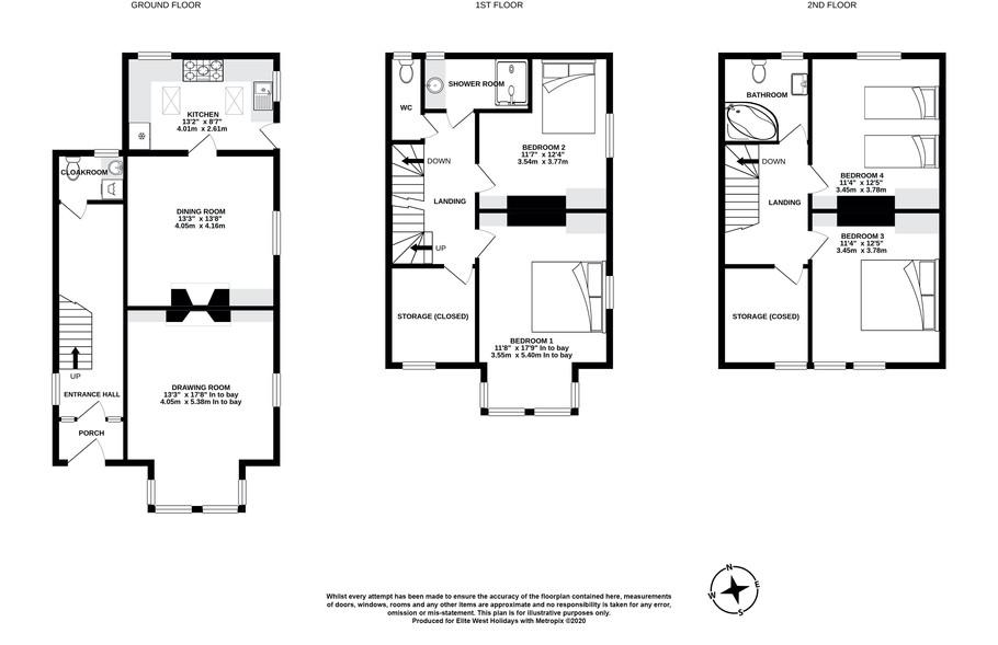 The Old Manse, Bude, floorplan