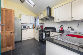 The kitchen, complete with range cooker