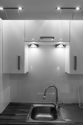 High shine surfaces in the kitchen