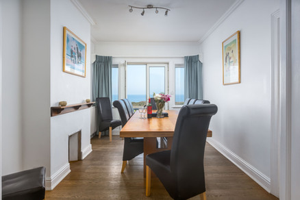 The separate dining room makes sitting down for supper a real treat