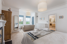 Double bedroom with views over the golf course