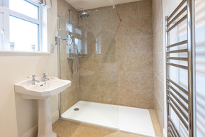 All of the bathroom are luxuriously modern