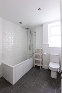One of two family bathrooms