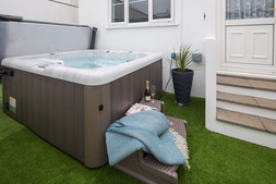 Soak away your cares in the hot tub