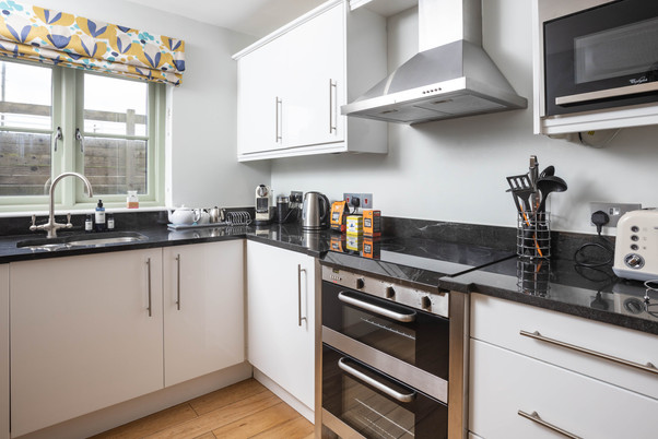 The contemporary kitchen has all you need