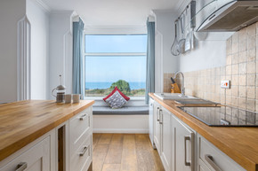 A window seat in the kitchen