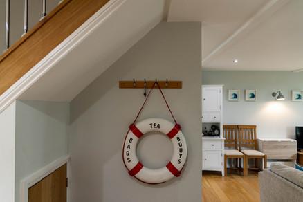 Nautical fancies adorn the walls