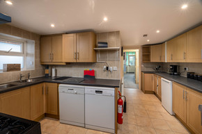 The large kitchen makes catering a breeze
