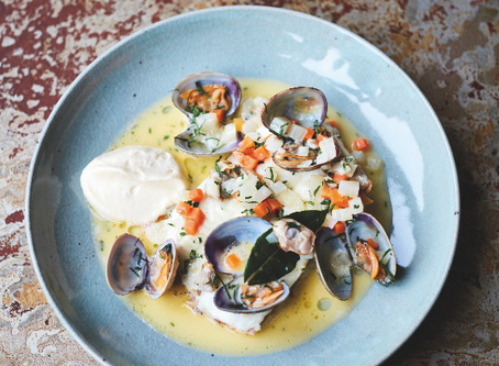 Main: Dover Sole with Clams, Parsley & Garlic by Nathan Outlaw
