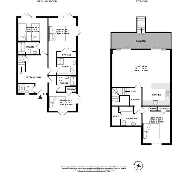 8, Black Rock Sands, Widemouth, floorplan