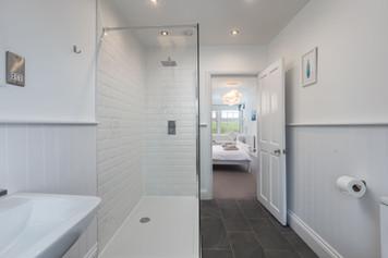 Stunning bathroom with walk-in shower