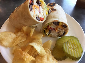 Southwest wrap and chips