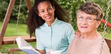 Ladies enjoying a visit - home care