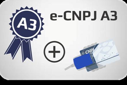 E-CNPJ A3 + Cartão + Leitora