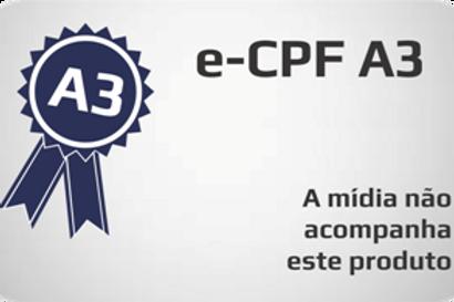 E-CPF A3 s/ mídia
