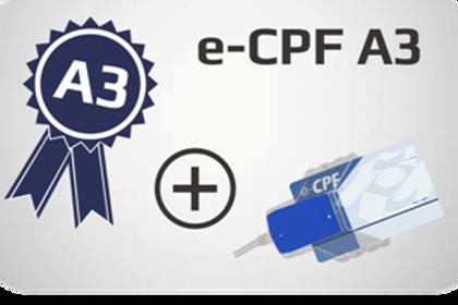 E-CPF A3 + Cartão + Leitora