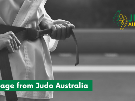 A message from Judo Australia