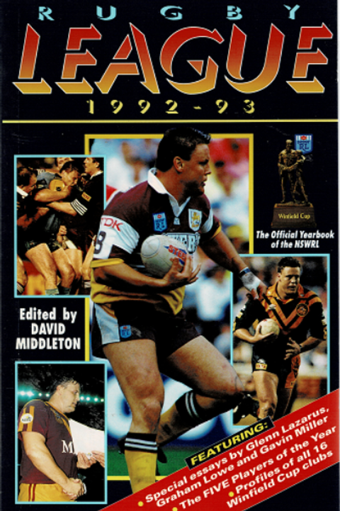 RUGBY LEAGUE 1992-93 by David Middleton