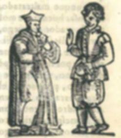 Grabado del 'tratado' de clérico de Maqueda, Lazarillo Castigado Madrid: [Juan Berrillo] Luis Sánchez, 1599