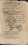 Propaladia & Lazarillo, Madrid: Pierres Cosin, 1573