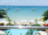Beachfront apartement for rent in Mon Choisy Mauritius - Appartement pieds dans l'eau a louer a Mon Choisy Ile Maurice