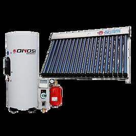 ベランダ型真空管式太陽熱温水器